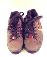 Enties Boys  Brown Canvas Skate Shoes Size 6.5  Used