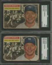 1956 Topps Baseball 525+ cards set/lot Mickey Mantle #135 times 2 SGC High#s HOF