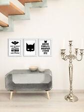 Canvas Bilderset Batman 3 teilig Poster Segeltuch Bilder Wandbilder ABC Nordic
