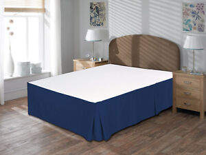 Pure Cotton Bedskirt 1000TC 100% Organic Cotton 1pc Bed Skirt All Drop/Sizes
