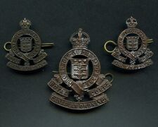WW2 Royal Canadian Ordnance Corps Officers Cap & Collar Badges (Group Of 3)