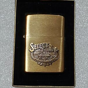 Zippo Lighter Select Trading Company Tobaccoville, NC Brushed Brass. NIB Sealed!