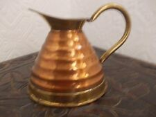 VINTAGE WEBA WARE ,ENGLAND, COPPER AND BRASS JUG.