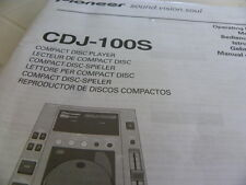 Pioneer CDJ-100 S  Operating Instructions Istruzioni