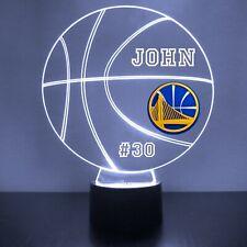 Golden State Warriors Night Light Personalized FREE NBA Basketball Light Up LED