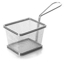 Servier Frittierkorb Mini Edelstahl 10x8 Frittier Korb Servierkorb Pommesschale