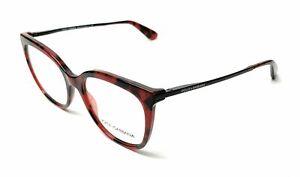 New Dolce & Gabbana DG 3258 2889 Black Red Tortoise RX Eyeglasses 52mm Italy