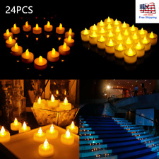 24Pcs Halloween Led Flameless Candles Votive Battery Operated Christmas Decor