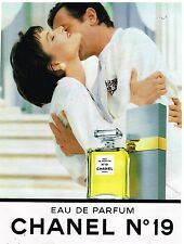 Publicité Advertising 1990 Eau de parfum N°19 Chanel