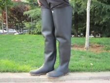 *Kohshin Gummi-Watstiefel Japan Black All Rubber Hip Waders Boots US8 EU41 UK7
