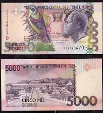 SAINT THOMAS & PRINCE 5000 Dobras 2004 BANKNOTE FIOR DI STAMPA UNC COLORATA