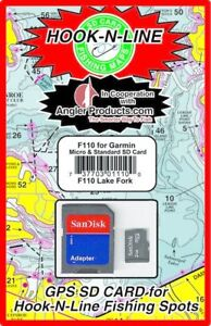 Angler Products Upload-able Fishing Hotspots for Lake Fork, TX - Hook-N-Line Map