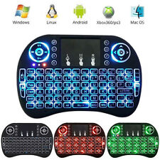 Rechargeable 2.4GHz Backlit Wireless Keyboard Touchpad Fly Air Mouse with Manual