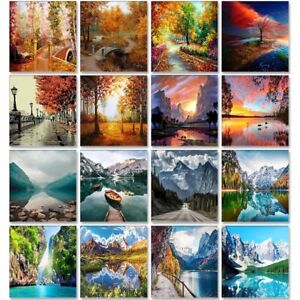 Scenery Acrylic Paint By Numbers Set Oil Painting For Adults DIY Kits Landscapes