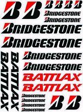 GP Honda Race Track Bridgestone Battlax Sponsors decalcomanie 22 adesivi /191