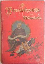 Bismarck-Gedichte des Kladderadatsch 1894 HOFMAN
