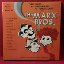 The Marx Brothers Three Hours Fifty Nine Minutes 4xLP Box Set Released 1974 Comp