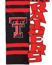 TEXAS TECH,  EMBROIDERED HOUSE FLAG BY EVERGREEN, RAIDERS