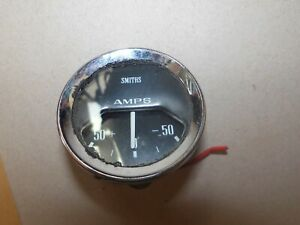 SMITHS 50/50 AMPMETER GAUGE 2 INCH
