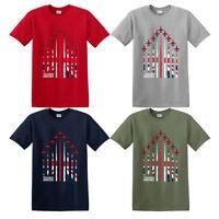 RAF Red Arrows men's T-shirt formation hawks union jack RAF Association