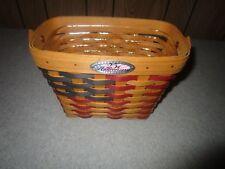 Longaberger Usa Anniversary American Flag Basket & Protector New