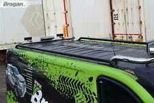 To Fit 2014 - 2019 Opel / Vauxhall Vivaro LWB Black Steel Roof Rails +Cross Bars