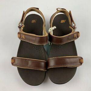 New Balance Whisky Women Traverse Leather Sandal US 7 D Brown Outdoor WR2102WSK