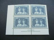 Pre decimal Stamps: Robes Imprint Thin paper Block of 4 MNH   - RARE   (i96)