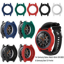 For Samsung Galaxy 46mm/S3 Smart Watch Silicon Band Frame Protective Case Cover