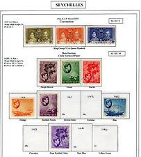 SEYCHELLES 1937-38  sg btw 132-144-     fine used