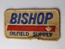 Bishop Oil Gas Field Supply Patch Vintage Employee Uniform Badge Collector