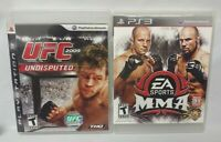 UFC 2009 Undisputed + MMA Fight Game Lot PS3 Sony Playstation 3 Tested Complete