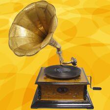 Gramophon Sound Master 4eckig Party Gag Nostalgie Geschenk Mechanische Musik