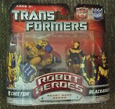 2007 Transformers Beast Wars Series Pair Cheetor & Blackarachnia Robot Toy NIP