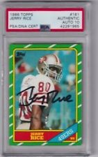1986 TOPPS JERRY RICE 49ERS VINTAGE SIGNED AUTO ROOKIE CARD #161 RC PSA 10