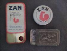 BOITES A ZAN.CACHOU.LOT DE 3 BOITES.