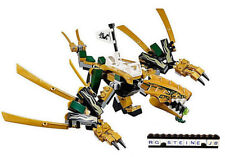 LEGO® NINJAGO™ goldener Drache aus dem Set 70666 OHNE FIGUREN Ninja Waffen NEU