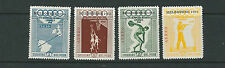PERU 1956 MELBOURNE OLYMPICS overprint on 1948 issue (set of 4) VF MNH