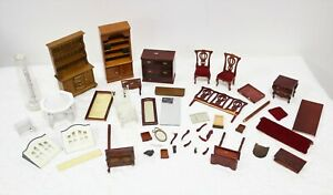 Vintage Dolls House Furniture Wooden Job Lot Mixed Bundle For Spares Repair