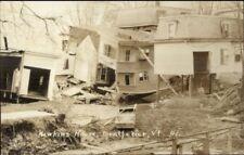 Montpelier VT Hawkins House Flood Damage 1927 Real Photo Postcard