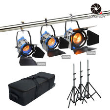 For Film 300W+650W+1000W Dimmer Built-in Fresnel Tungsten Spot Light Cam Studio