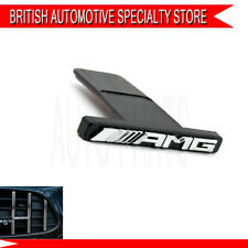For Mercedes-Benz Chrome Black AMG GT R Emblem Logo Panamericana Grille Radiator