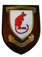 7th Armoured Desert Rats Wall Plaque Regimental Military Mess Army Shield