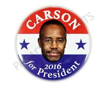 "2016 DR. BENJAMIN ""BEN"" CARSON for PRESIDENT 2.25"" CAMPAIGN BUTTON, bcds"