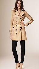 New Burberry London Heritage 2017 Authentic Sandringham Honey Trench Coat Mid