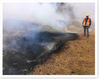 Geologist Examines Fissure 10 Kilauea Volcano 2018 Silver Halide Photo