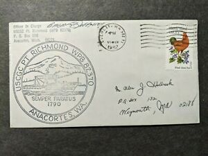 USCGC POINT RICHMOND WPB-82370 Naval Cover 1982 SIGNED Cachet ANACORTES, WASH