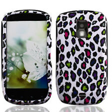 For Samsung Galaxy S Lightray 4G Rubberized HARD Case Cover White Color Leopard