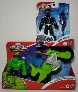 Super Hero Adventures Playskool Heroes Marvel Black Panther Hulk Smash Tank Lot