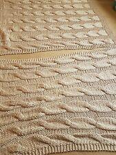 Debenhams 2 x Chunky Knit Throw Beige colour rrp £100 each BARGAIN 2 for £90